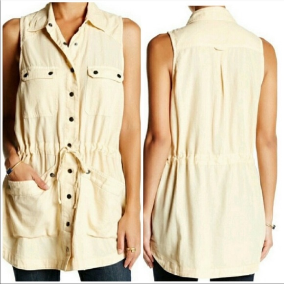 Free People Tops - Free People Button Down Collared Tunic NWT